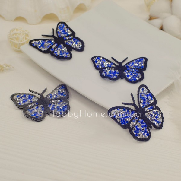Метелик стразовий , синя