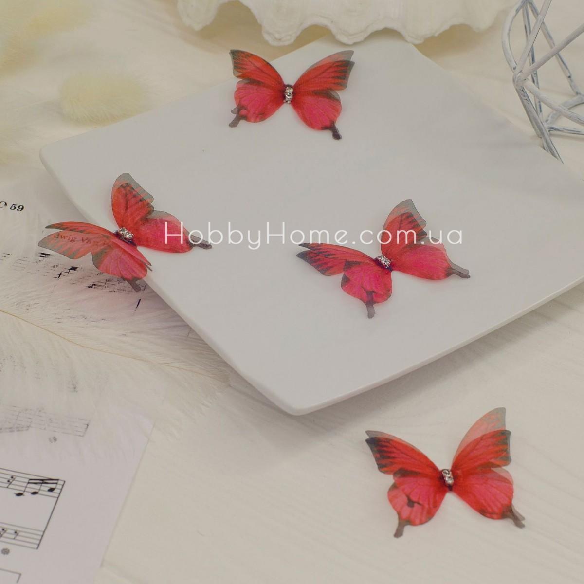 Метелики шифонові , червоні
