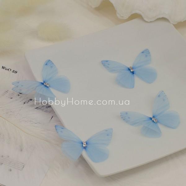 Метелики шифонові , ніжно блакитні