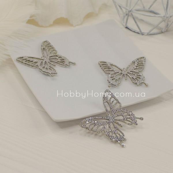 Вирубка метелики гліттерні , срібло