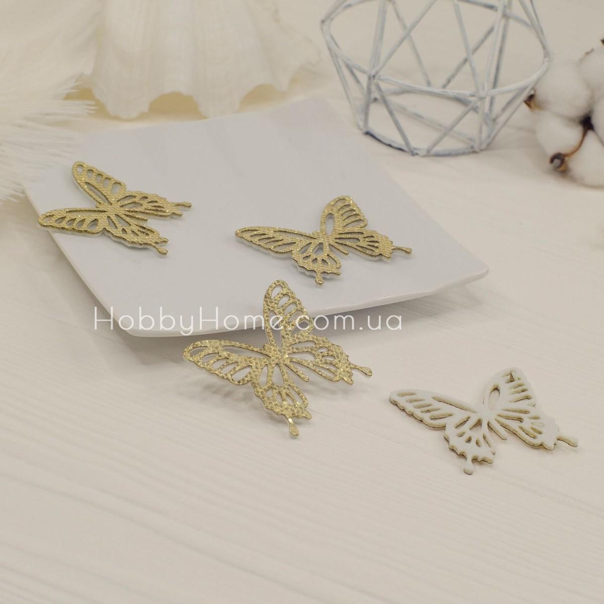 Вирубка метелики гліттерні , золото