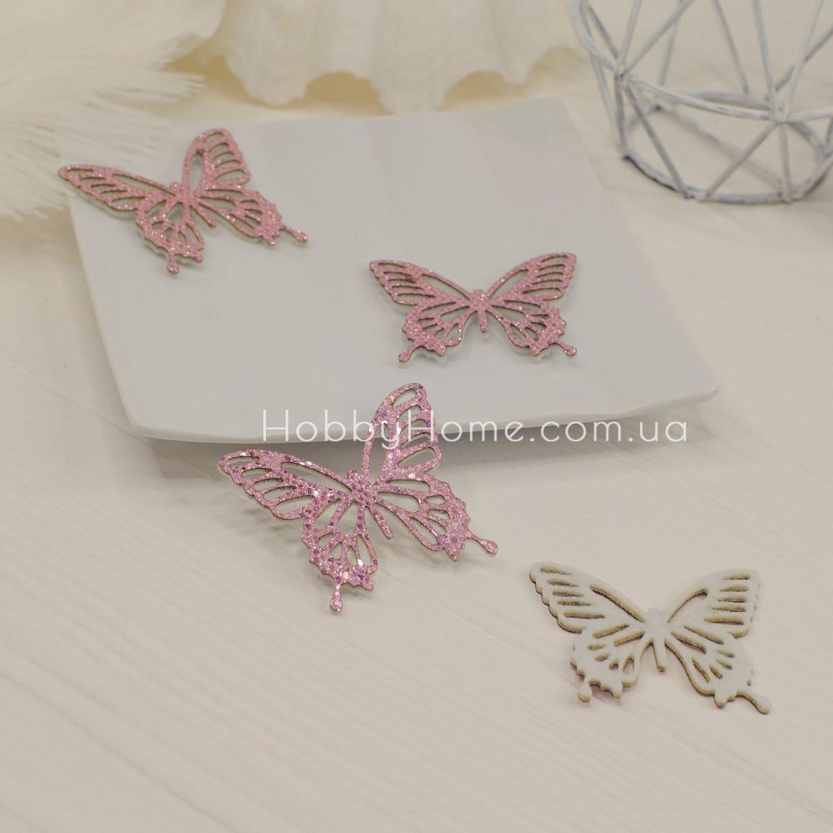 Вирубка метелики гліттерні , рожевий