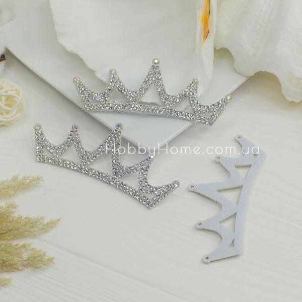 Корона Леді зі стразами на фетрі , срібло