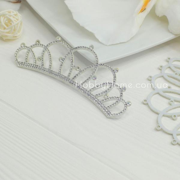 Корона Королева со стразами на фетре , серебро