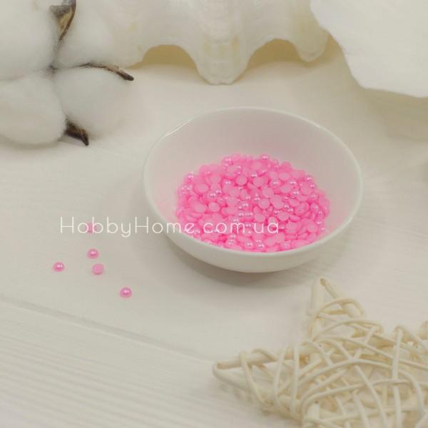 Напівбусини 4мм рожеві 20шт