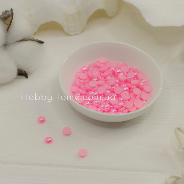 Напівбусини 6мм рожеві 10шт
