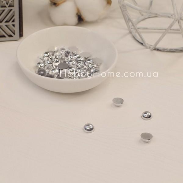 Напівбусини 8мм срібні 10шт
