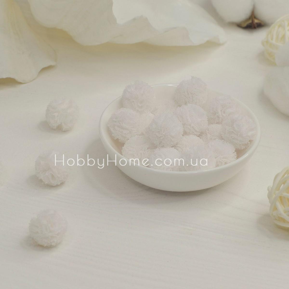 Помпони фатинові 1,5см , білі