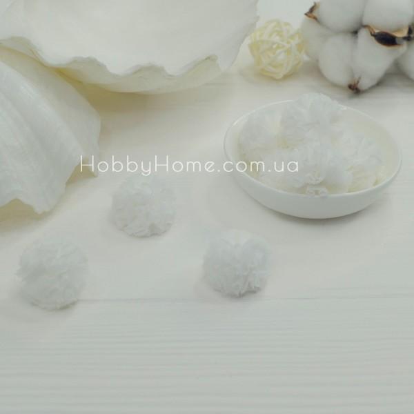 Помпони фатинові 2,5см , білі