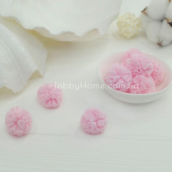 Помпони фатинові 2,5см , ніжно рожеві