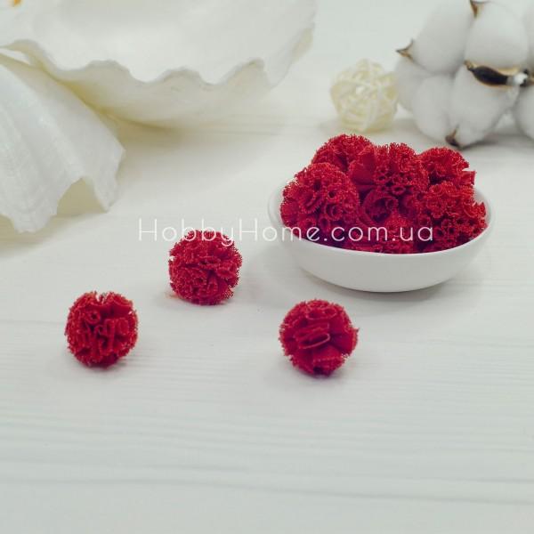 Помпони фатинові 2,5см , червоні