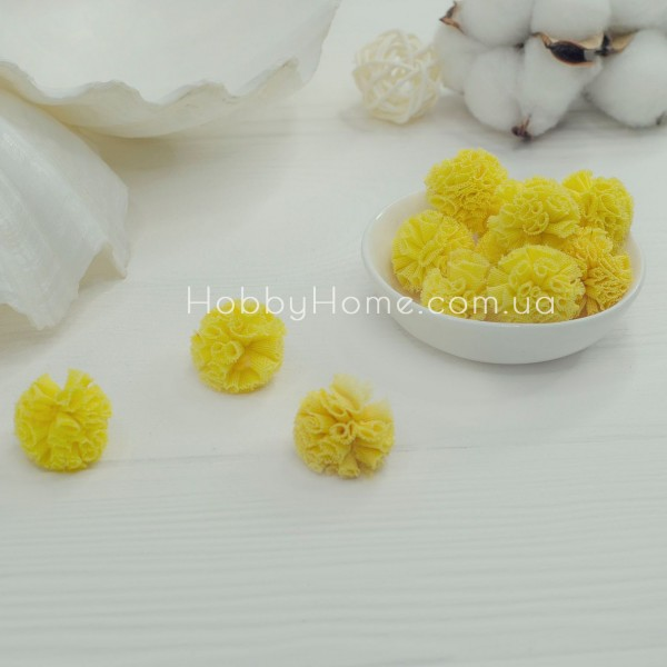 Помпони фатинові 2,5см , жовті