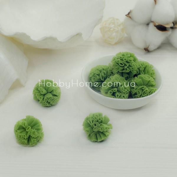 Помпони фатинові 2,5см , зелені