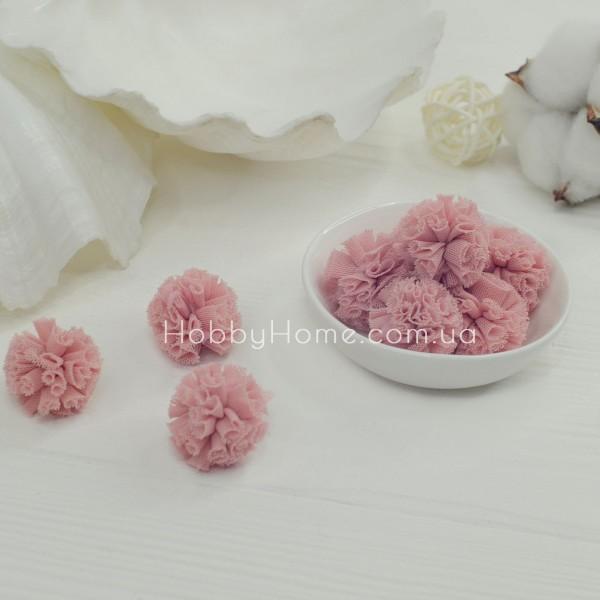 Помпони фатинові 2,5см , корал