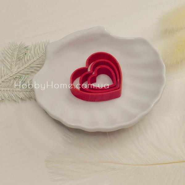 Форма для валяння Серце маленьке , червона